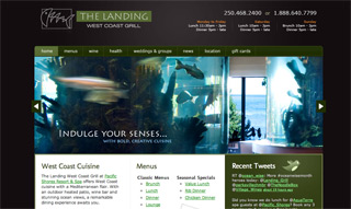 New & improved The Landing West Coast Grill website!
